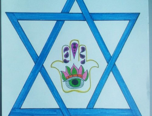Students' drawings to commemorate the Jewish New Year, Rosh Hashanah